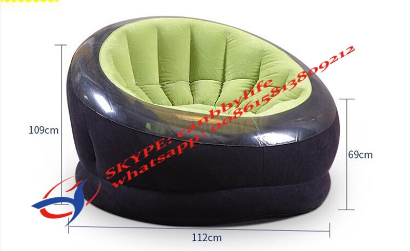 Green Intex Empire Chair Outdoor Inflatable Round Sofa Chair Seat Inflatable Single Sofa Adult