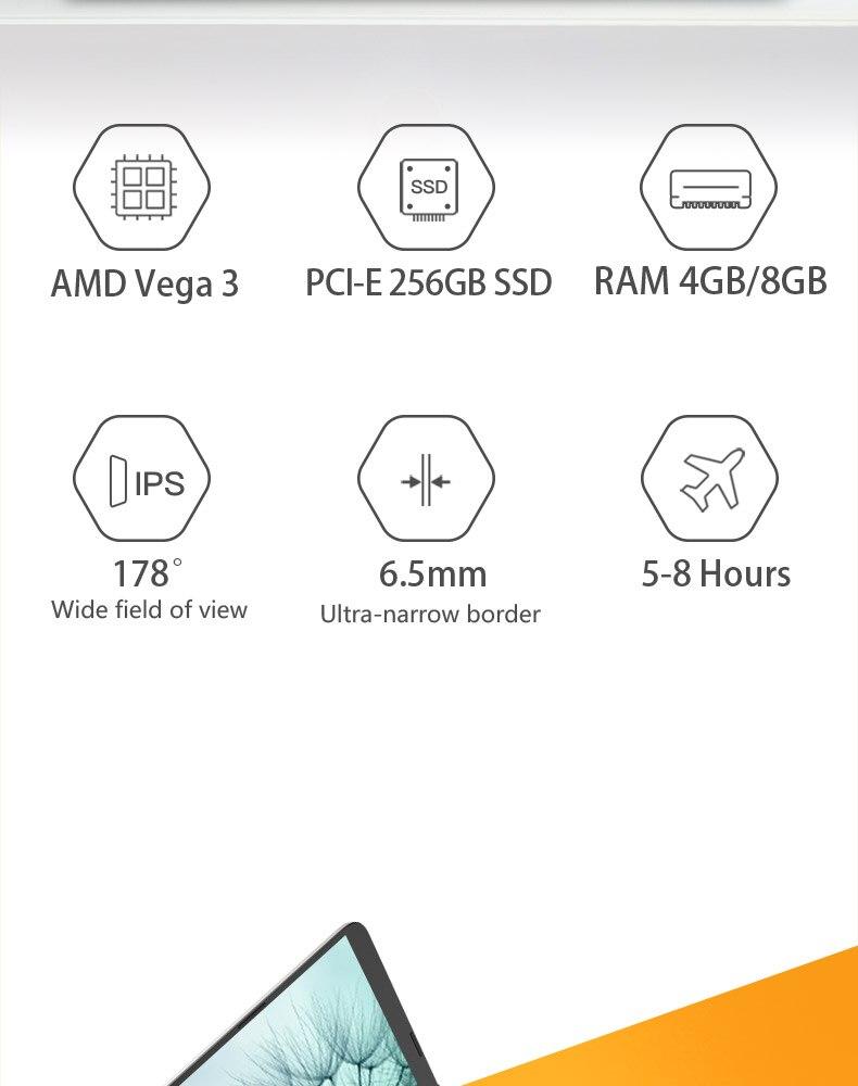 HP 14S Laptop 14 Inch R3-3200U AMD Vega 3 Integrated Card Dual Core 4GB 8GB RAM PCI-E 256GB 500GB SSD Notebook AMD Ryzen 3 3200U