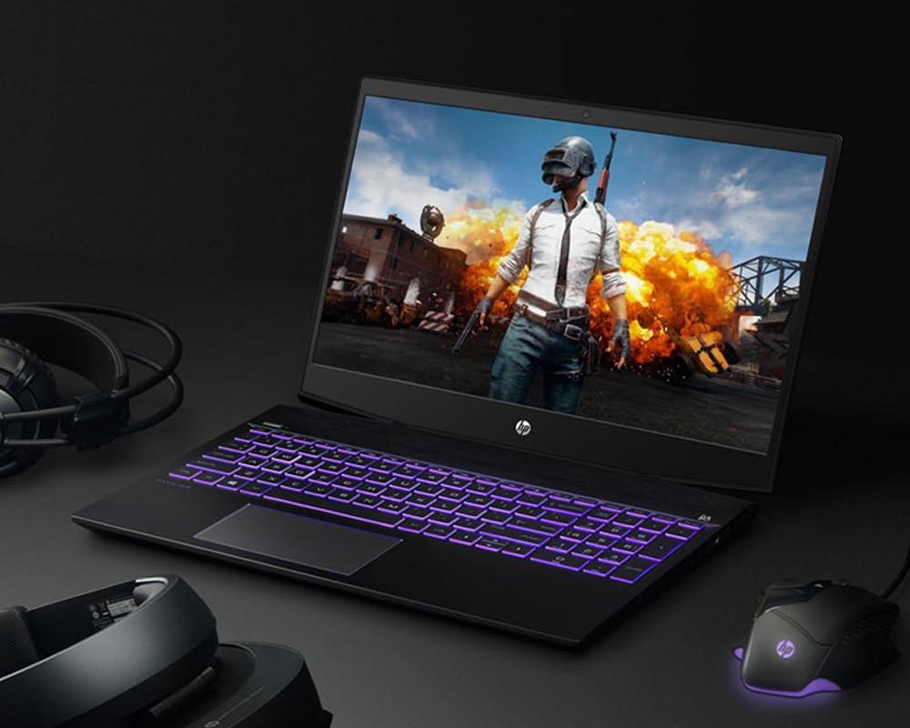 HP Game Laptop 15.6 inch Intel Core i7 Windows 10 8GB RAM SSD 128GB + HDD 1TB GTX1050Ti 4GB Laptop with Backlit Keyboard