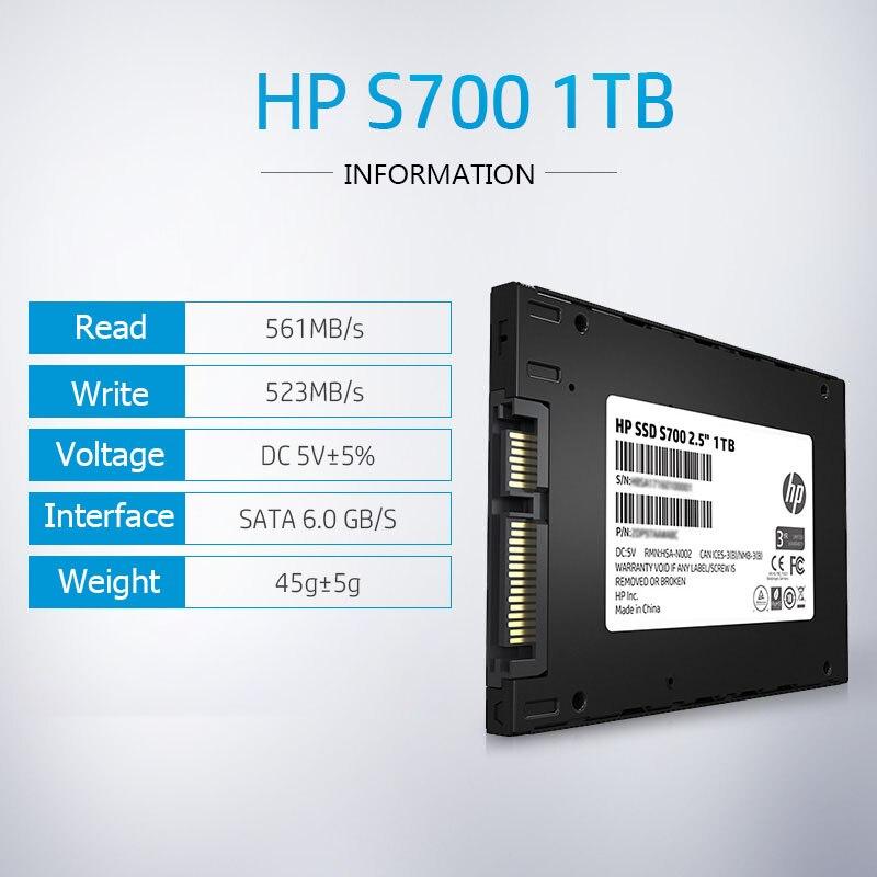HP S700 SSD 120GB 250GB 500GB 1TB 2.5 inch SSD SATA HD Hard Drive Disk Disc for Laptop Notebook PC Internal Solid State Drive