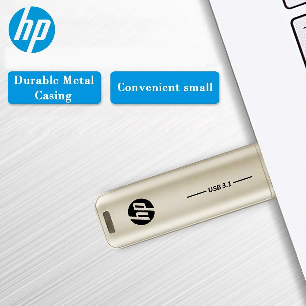 HP Mini Metal Usb 3.1 Flash Drive 128GB 64GB 32GB Flash Drive Portable 128GB Memory Stick Pendrive Storage Flashdrive