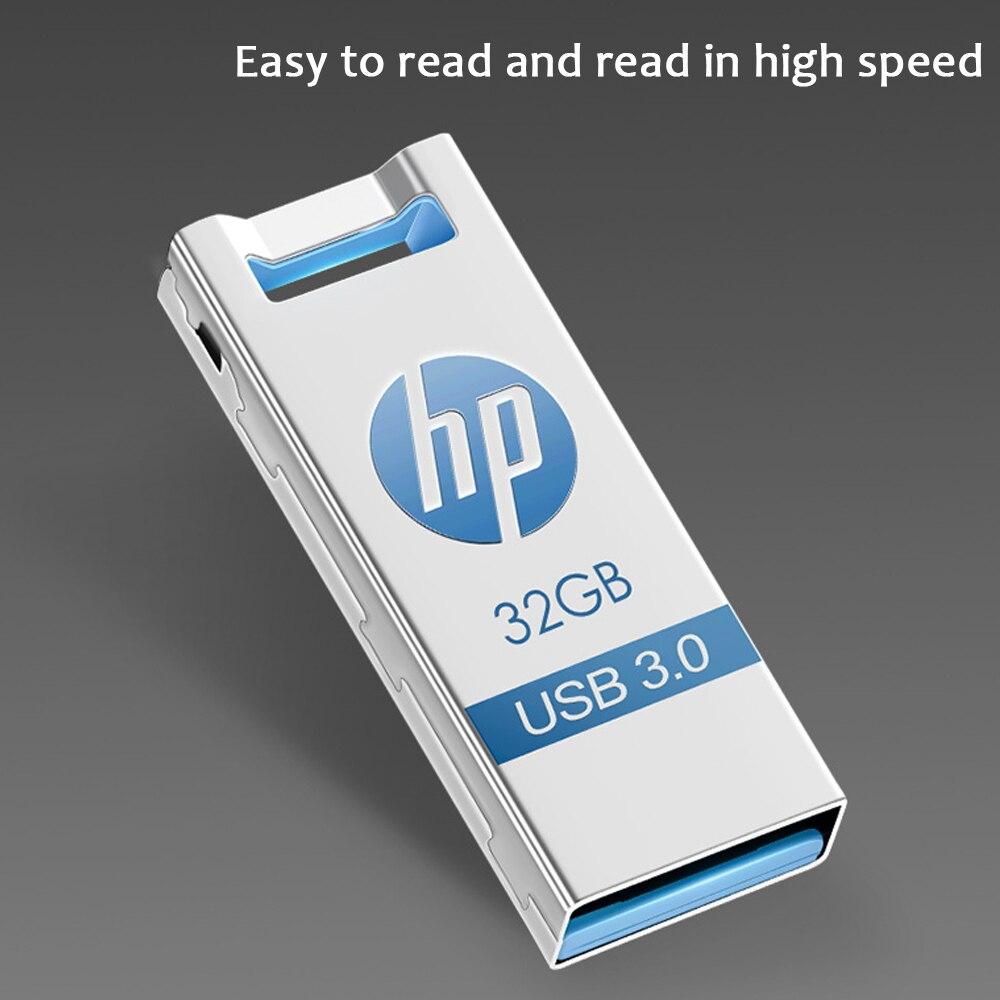 HP mini metal flash drive usb 3.0 Memory 64GB Metal Flash Disk 128GB High-Speed 32GB usb Flashdrive Pen Drive Pendrive