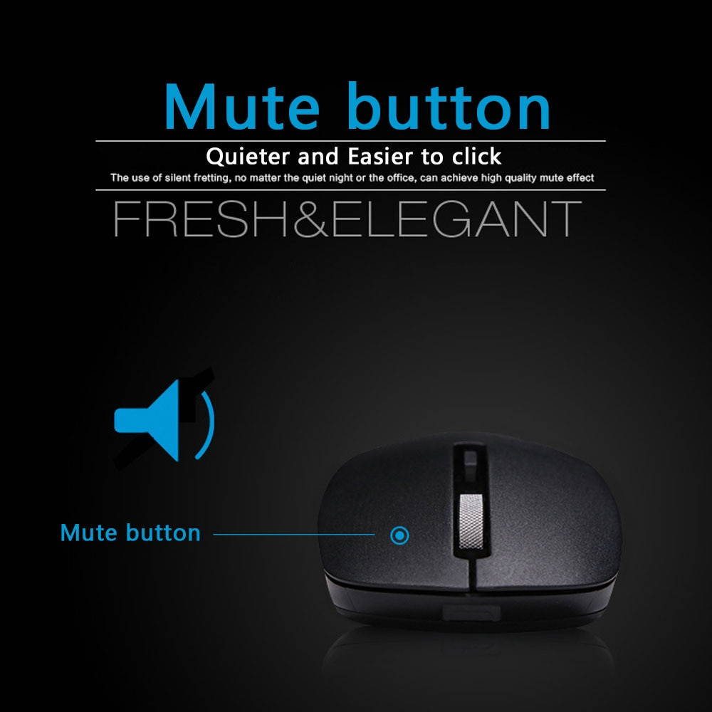 HP Silent Wireless Mouse 1600dpi Ergonomic 2.4G Mause USB Optical Portable Mini Wireless Mouse for PC Computer Laptop Mice