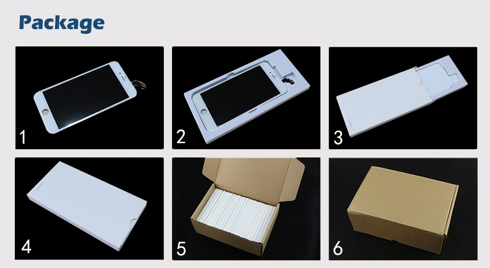 LCD Display For iPhone 6 6G Touch Screen Digitizer+Home Button+Front Camera+Ear Speaker Full Assembly Replacement with Tools