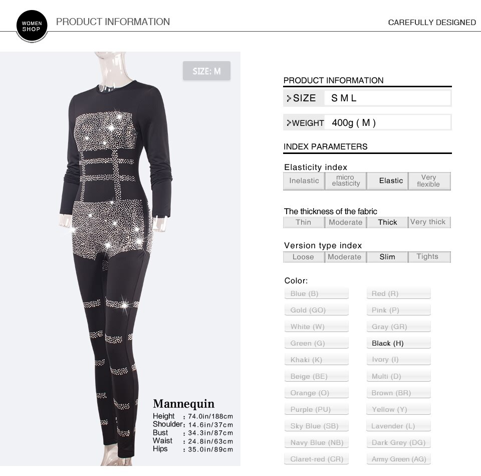 Sedrinuo New Arrival Women One Piece Sequin Long Sleeve O-Ncek Jumpsuits Bodycon Rhinestone Jumpsuit Sexy Club Party Bodysuits