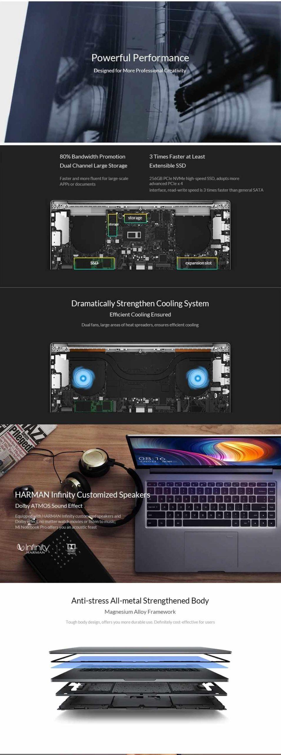 2019 XIAOMI Laptop Pro Intel Core i5-8250U GeForce MX250 Quad Core 15.6 Inch Win10 8G RAM 256G SSD Gaming Notebook Fingerprint