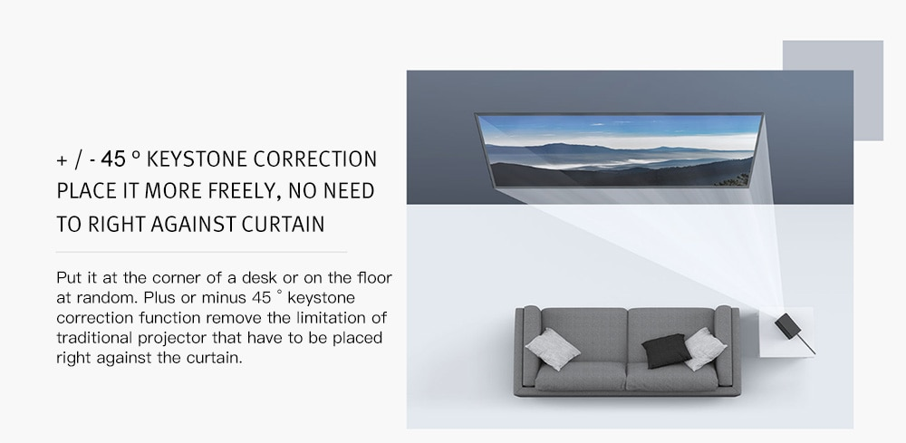 Original Xiaomi Mijia Projector 120 Inch Mi Projection 1080P 4K DLP 3500LM 2GB+16GB Android 6.0 Dual Band WiFi Support Dolby 3D