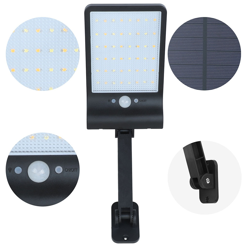 1/2 PCS 48 LED Wall Lamp IP65 Waterproof Outdoor Solar Street Light Radar Motion For Garden Yard Street Flood Lamp