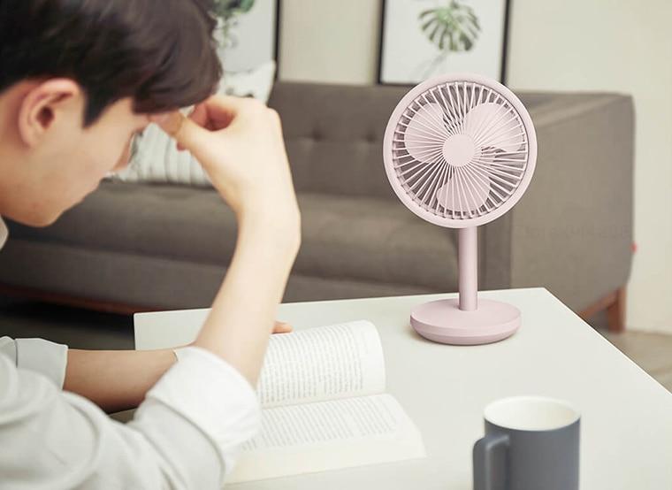 XIAOMI MIJIA SOLOVE Desktop mini fan Portable Standing fans Type-C usb rechargeable 4000mAh air conditioner table easy to carry