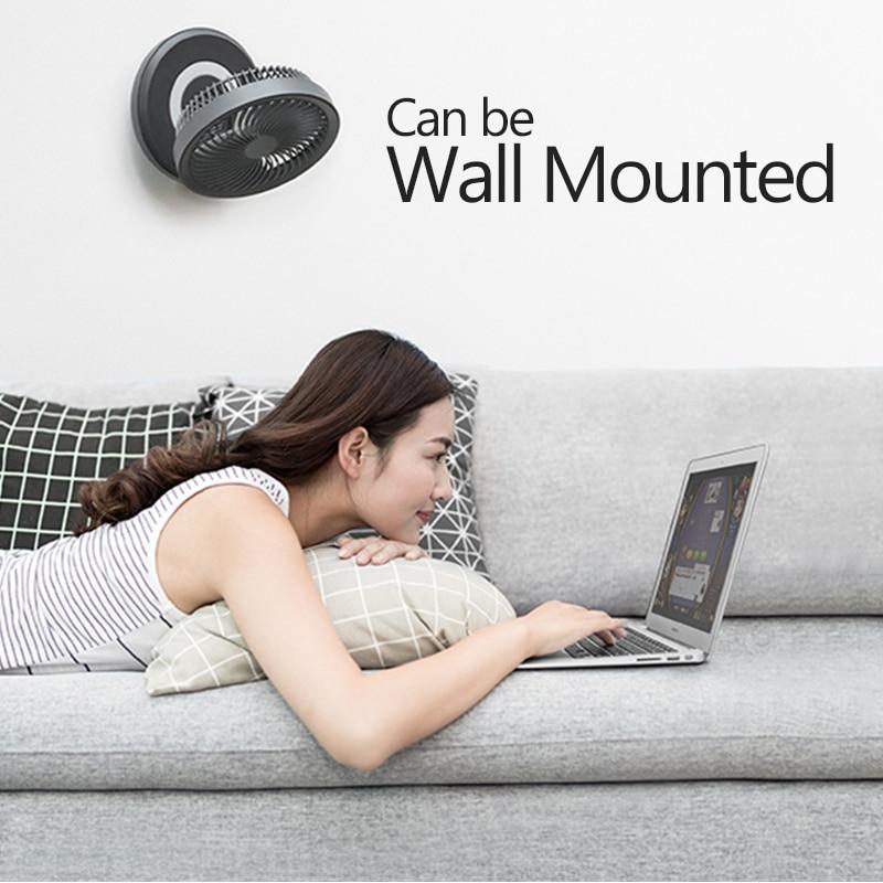 Xiaomi EDON Circular USB LED Night Light Fan Portable Adjustable Wireless Rechargeable Wall Fan bedroom office school outdoor