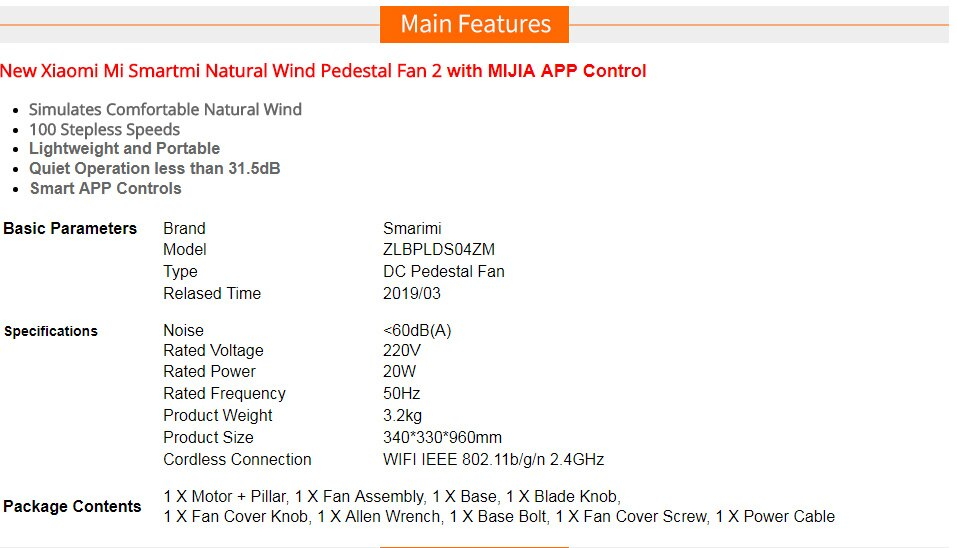 Xiaomi Mijia Smartmi Standing Floor Fan 2 / 2S DC Pedestal Fans home Floor rechargeable Portable Air Conditioner Natural Wind