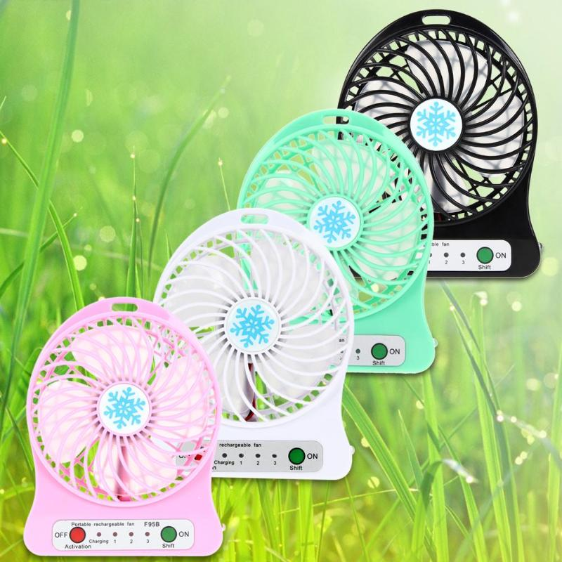 Portable Mini USB Li-ion Battery Rechargeable Multifunctional Fan