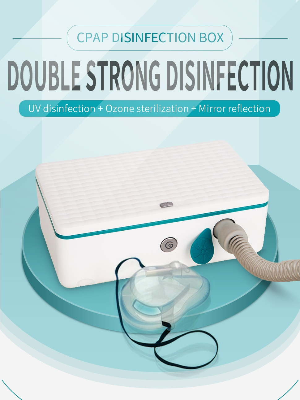 CPAP Cleaner and Sanitizer CPAP Cleaner Supplies Ozone Free UV for CPAP Mask and Air Tubes Machine Tube Respirator