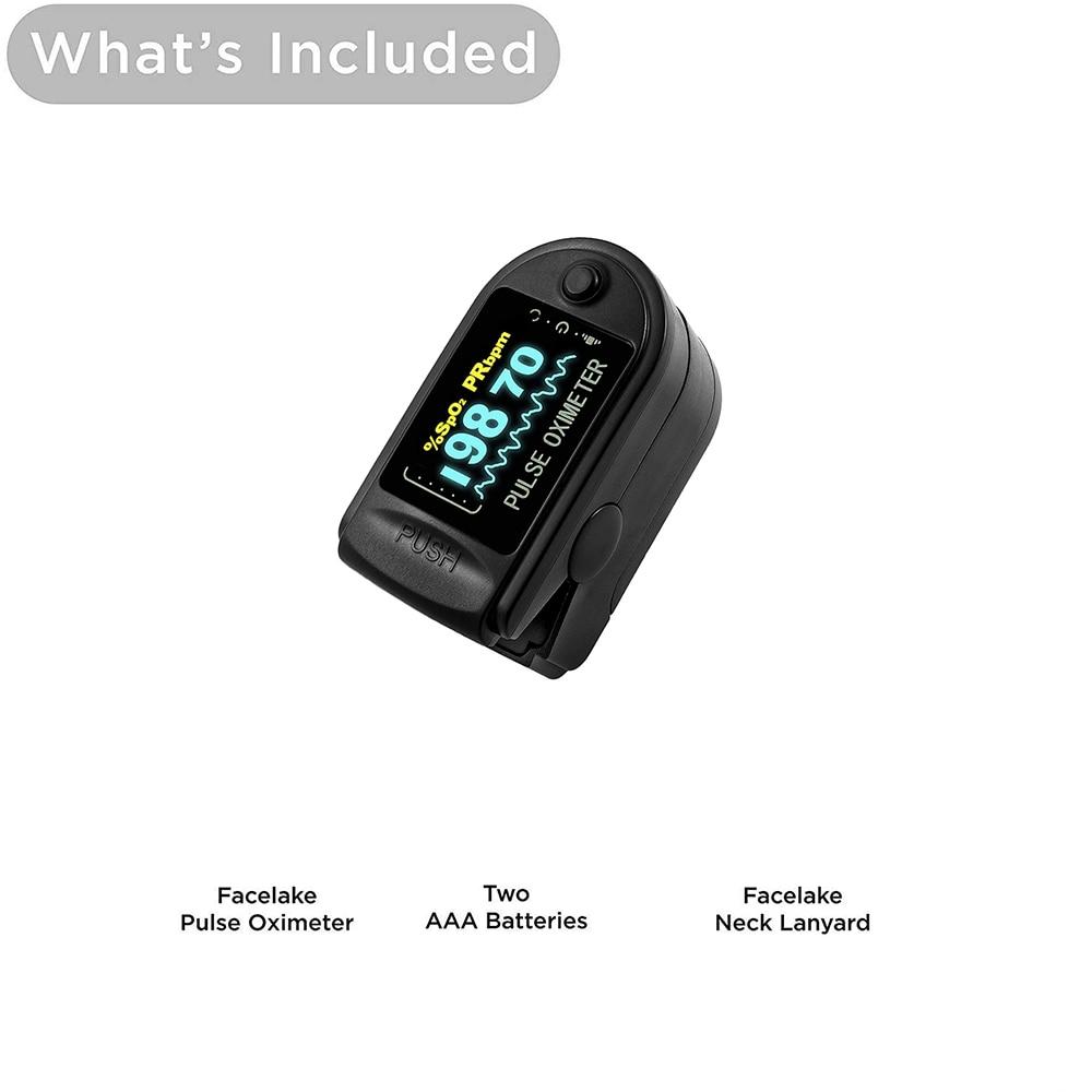 Finger Oximeter Portable Fingertip Pulse Oximeter With LED Household Health Monitors Pulse Oximeter Oximetro SpO2 Monitor