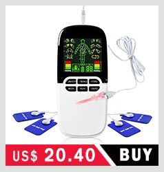 8 Models EMS Electric Herald Tens Acupuncture Body Massage Digital Therapy Machine Muscle Stimulator Electrostimulator Massager