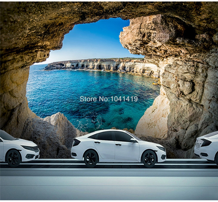 Photo Wallpaper Modern Simple Cave Seascape Nature Mural Living Room Bedroom Interior Decor Wallpaper Space Expansion Wallpapers