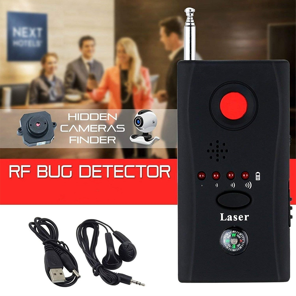 Camara Espia Oculta Anti Spy Bug Detector CC308+ Hidden Camera Sound Signal GSM Spy Device Finder Dedektor with LED Light