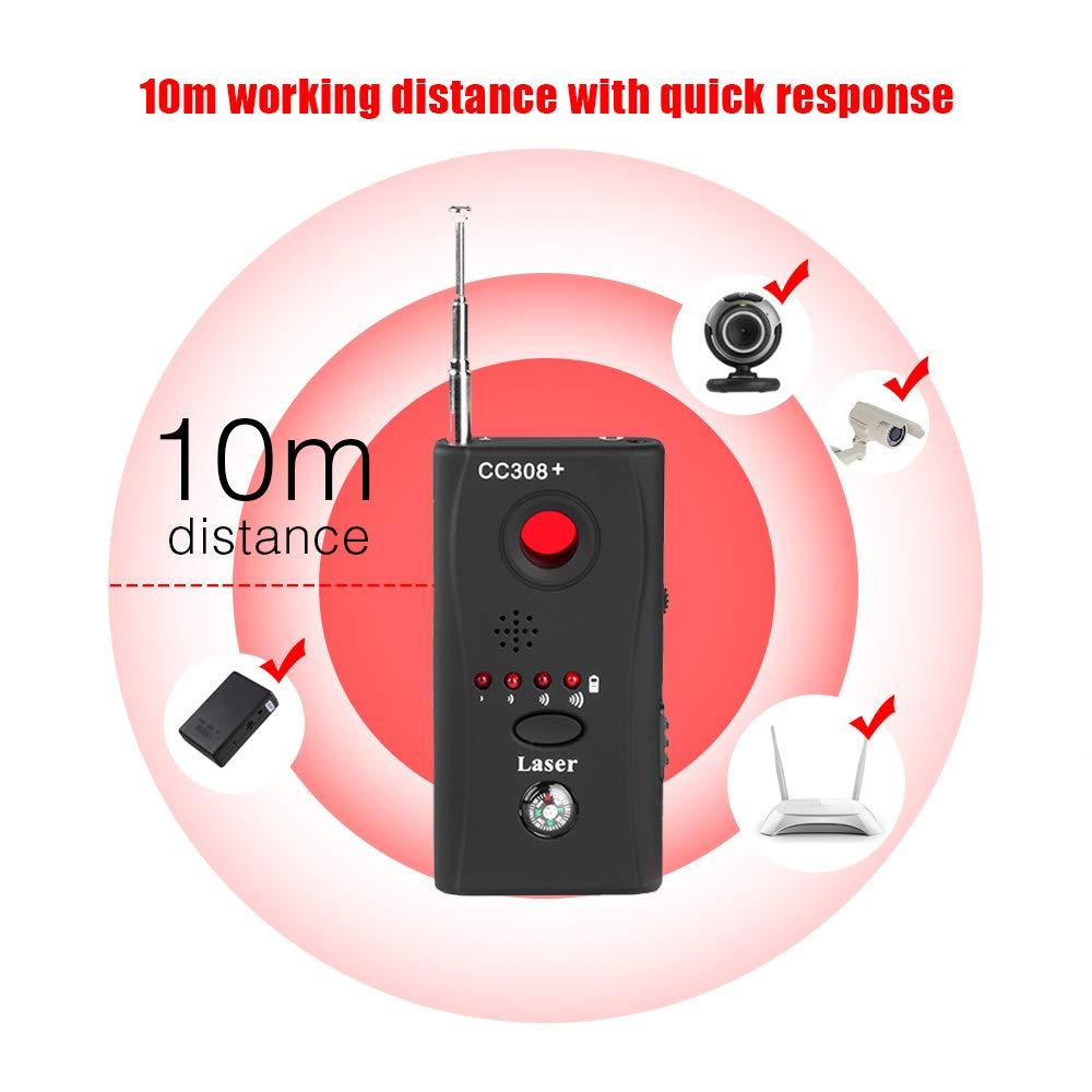 Camara Espia Oculta Anti Spy Bug Detector CC308+ Hidden Camera Sound Signal GSM Spy Device Finder Dedektor with LED Light