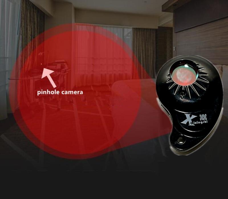 X Anti Spy Bug Detector Hidden Camera GSM Device Spy Camera Laser Detection Wiretap Finder Portable with 4 IR Light